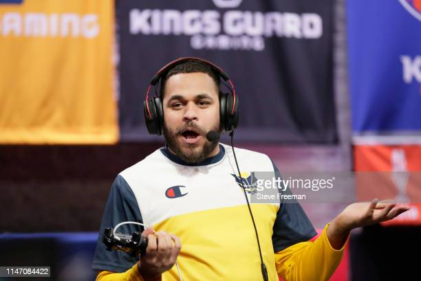 Lord Beezus reacts to play against Blazer5 Gaming during Week 7 of the NBA 2K League regular season on May 30 2019 at the NBA 2K Studio in Long...