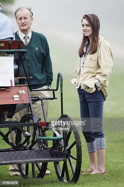 Lord Brabourne and his daughter Alexandra Knatchbull at the Royal Windsor Horse Show Windsor Great Park in the grounds of Windsor Castle on May 13...