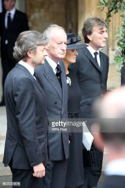 Lord Brabourne and Lady Brabourne after the funeral service of Patricia Knatchbull Countess Mountbatten of Burma at St Paul's Church in Knightsbridge...