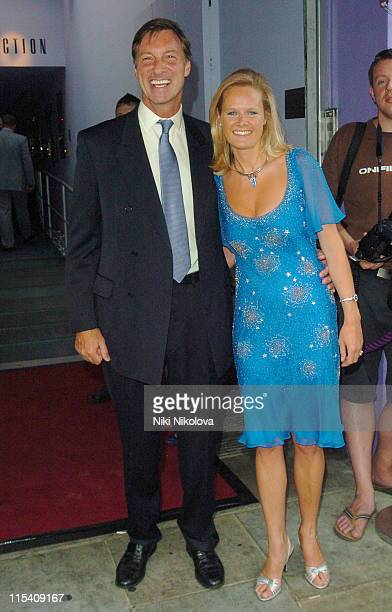 Lord Brockett and guest during Cartier Polo Players Party - Outside Arrivals at The Collection in London, Great Britain.