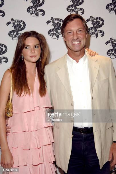 Lord Brockett and his Daughter during Wheels and Dollbaby Summer Party - Outside Arrivals in London, Great Britain.