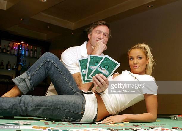 Lord Brockett and Jordan during Partypoker.com Launch at Sugar Reef in London, Great Britain.