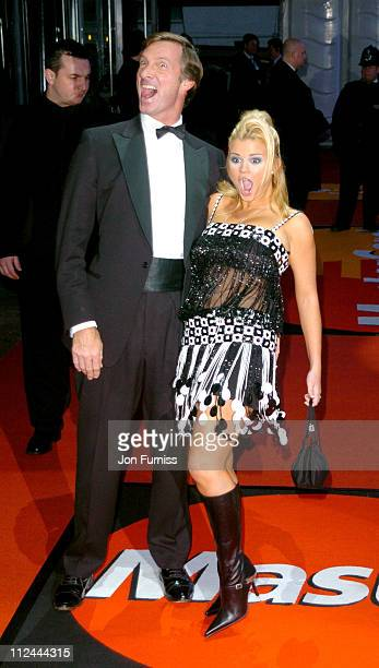 Lord Brockett and Kerry Mc Fadden during The 2004 Brit Awards - Arrivals at Earls Court in London, Great Britain.