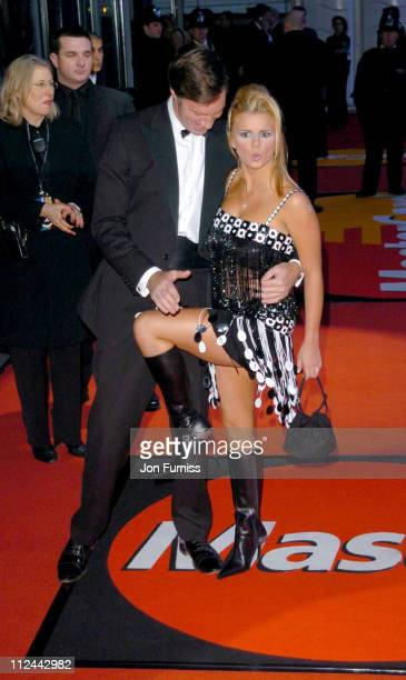 Lord Brockett and Kerry McFadden during The 2004 Brit Awards - Arrivals at Earls Court in London, Great Britain.
