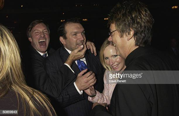 Lord Brockett Neil Ruddock and Mike Reid attend the 2004 Tric Awards at The Grovesnor House Hotel on March 10 2004 in London