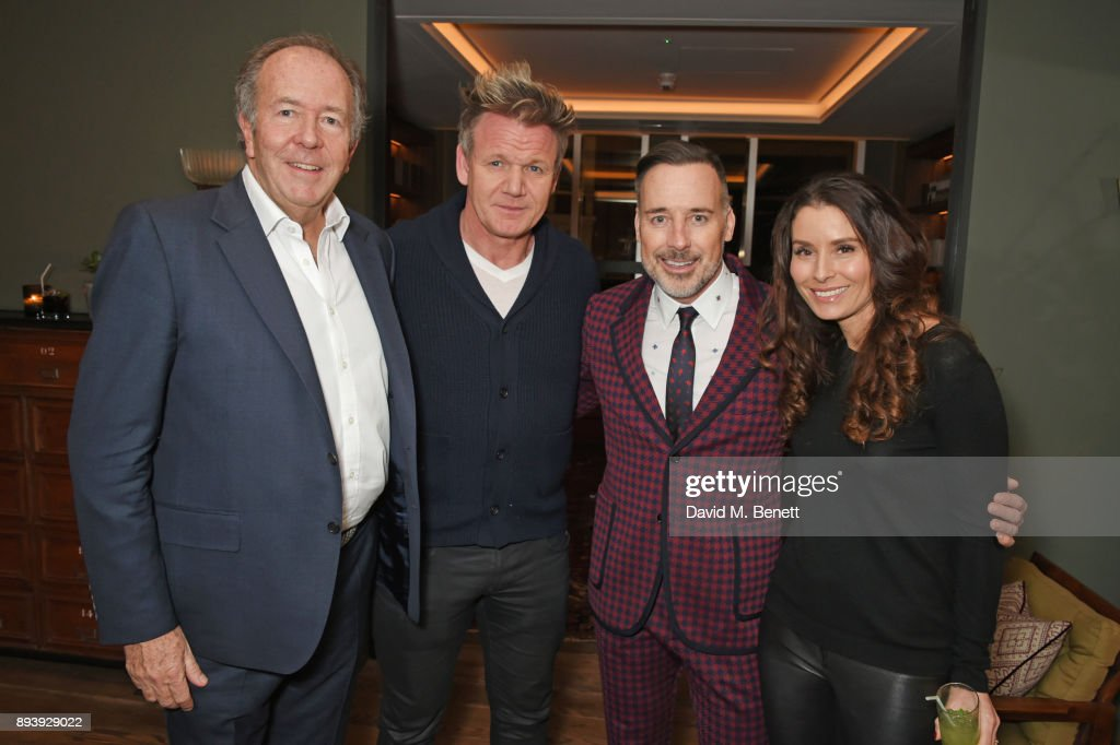 Lord Bruce Dundas, Gordon Ramsay, David Furnish and Tana Ramsay attend Alexander Dundas's 18th birthday party hosted by Lord and Lady Dundas on December 16, 2017 in London, England.