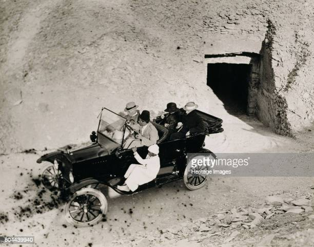 Lord Carnavon's first visit to the Valley of the Kings Egypt 1923 Lord Carnavon and a party in a motor car Carnarvon was archaeologist Howard...