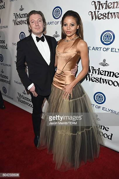 Lord Ceawlin Weymouth and Lady Emma Weymouth attend The Art of Elysium 2016 HEAVEN Gala presented by Vivienne Westwood Andreas Kronthaler at 3LABS on...