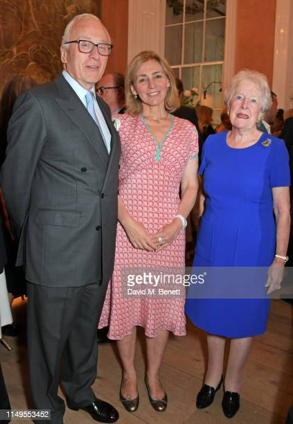 Lord Chadlington, Dr Henrietta Bowden-Jones and Lady Mary Parkinson attend a dinner hosted by Skye Gyngell and the Trustees of Action on Addiction to...