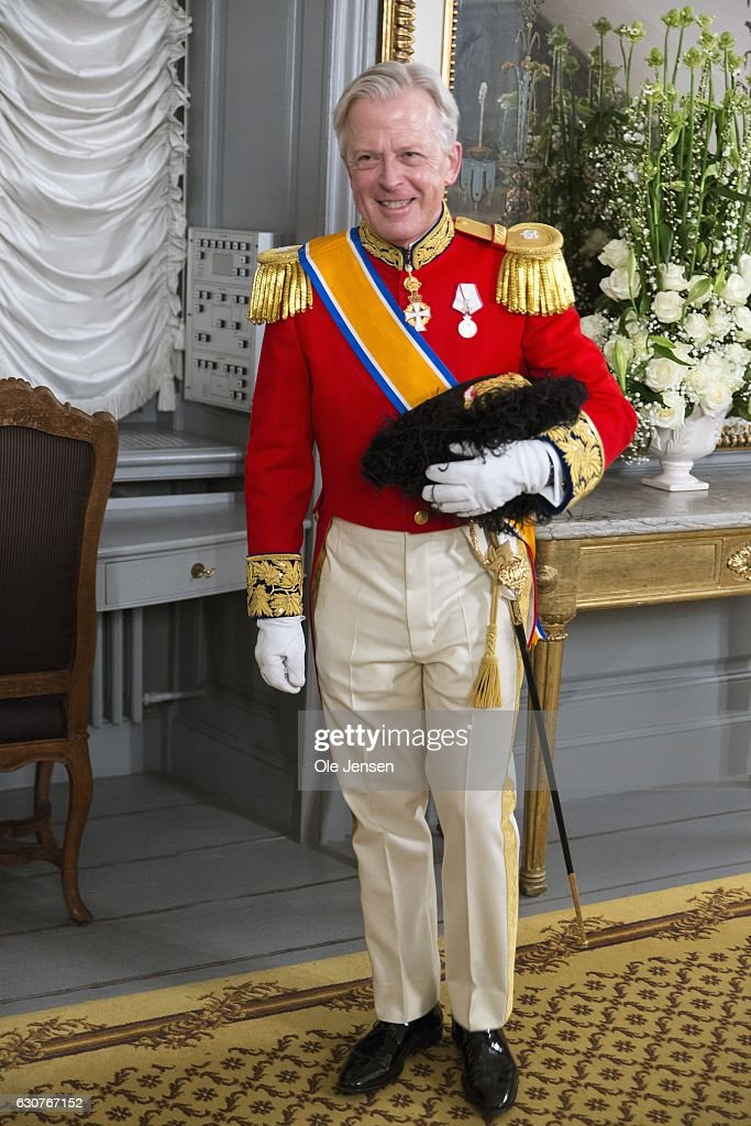 Lord Chamberlain Michael Ehrenreich arrives to Queen Margrethe of Denmark's New Year's reception at Amalienborg on January 1, 2017 in Copenhagen, Denmark.
