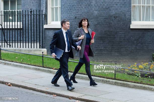 Lord Chancellor and Secretary of State for Justice David Gauke and Minister of State for Energy and Clean Growth Claire Perry leave 10 Downing Street...