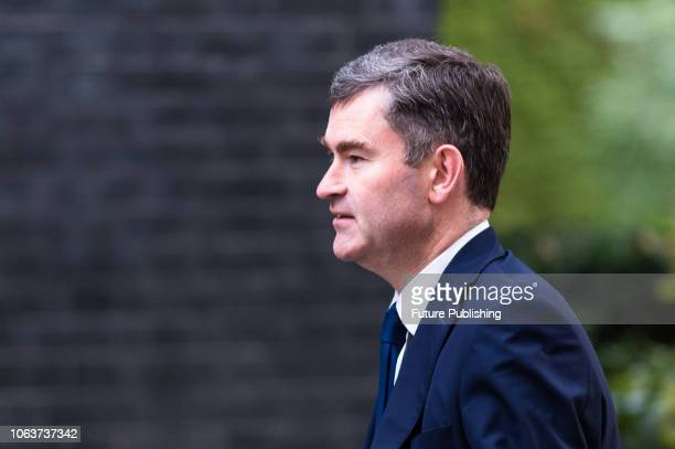 Lord Chancellor and Secretary of State for Justice David Gauke arrives for a Cabinet meeting at 10 Downing Street in central London held to discuss...