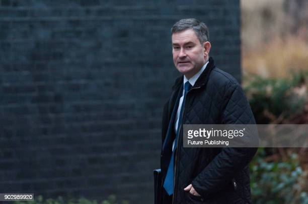 Lord Chancellor and Secretary of State for Justice David Gauke arrives for a weekly cabinet meeting at 10 Downing Street in central London January 9...