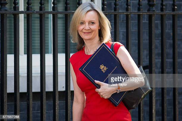 Lord Chancellor and Secretary of State for Justice Elizabeth Truss arrives at Downing Street for the weekly cabinet meeting on July 19 2016 in London...