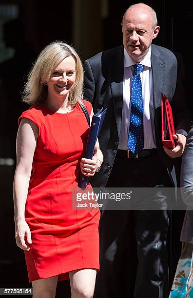 Lord Chancellor and Secretary of State for Justice Elizabeth Truss and Secretary of State for Work and Pensions Damian Green leave Number 10 Downing...