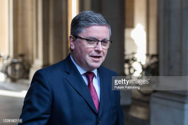 Lord Chancellor and Secretary of State for Justice Robert Buckland returns to Downing Street in central London after attending weekly Cabinet meeting...