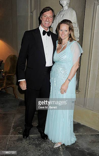 Lord Charles Brocket and wife Harriet arrive at a party to celebrate the renovation of Easton Neston and to welcome designer Leon Max to his new...