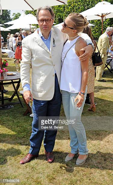 Lord Charles March and Atty Gordon Lennox attend the Cartier Style Luxury Lunch at the Goodwood Festival of Speed on July 14 2013 in Chichester...