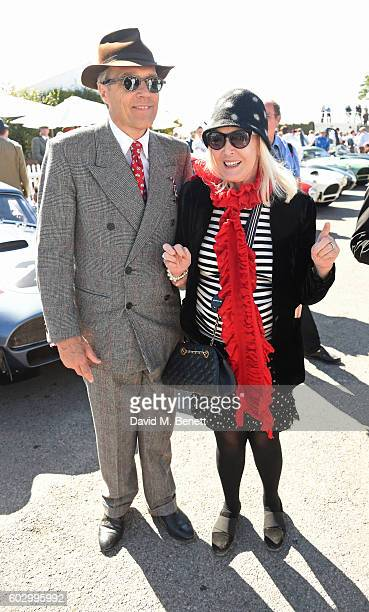 Lord Charles March and Lady Helen Stewart attend day 3 of the Goodwood Revival at Goodwood on September 11 2016 in Chichester England