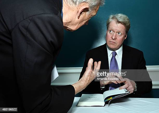 Lord Charles Spencer signs copies of his book 'Killers of the King The Men Who Dared to Execute Charles I' at the British American Business Council...