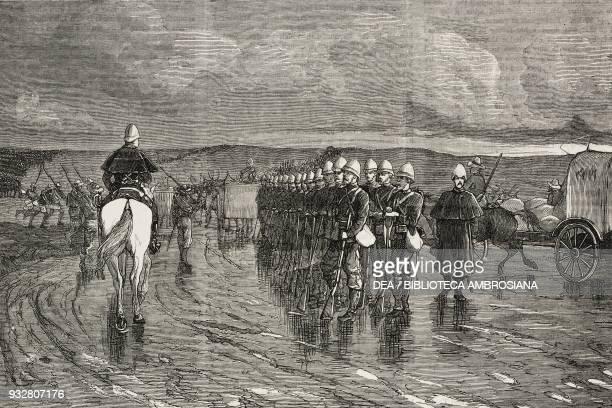 Lord Chelmsford's column starting from Fort Tenedos Tugela to relieve Ekowe march 29 Second AngloAfghan War illustration from the magazine The...
