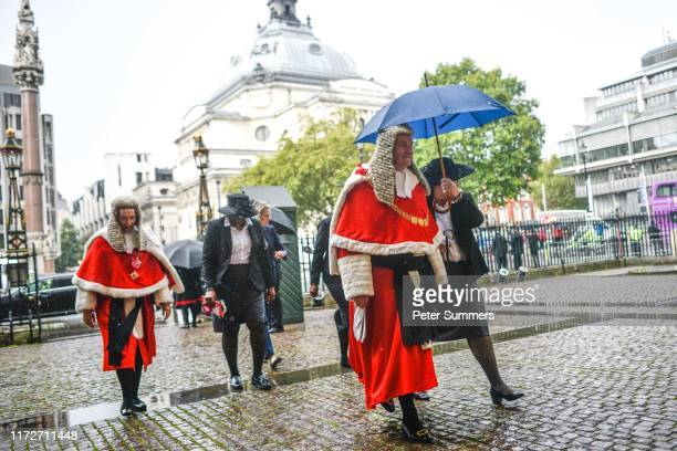 Lord Chief Justice of England and Wales, Ian Burnett, Baron Burnett of Maldon arrives at Westminster Abbey for the Judge's Ceremony on October 1,...