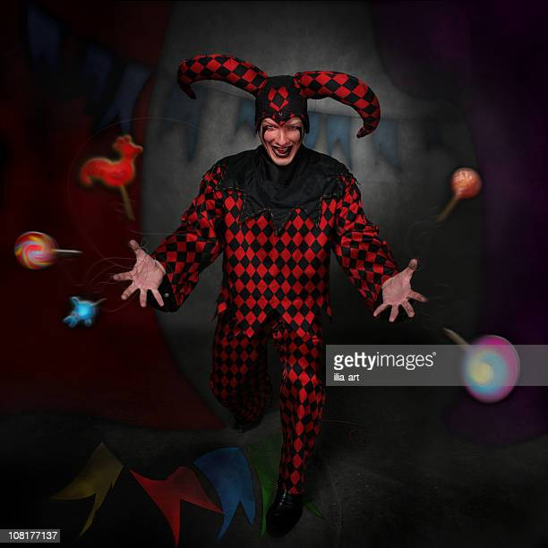 lord clown: sweetnesses - harlequin stock photos and pictures