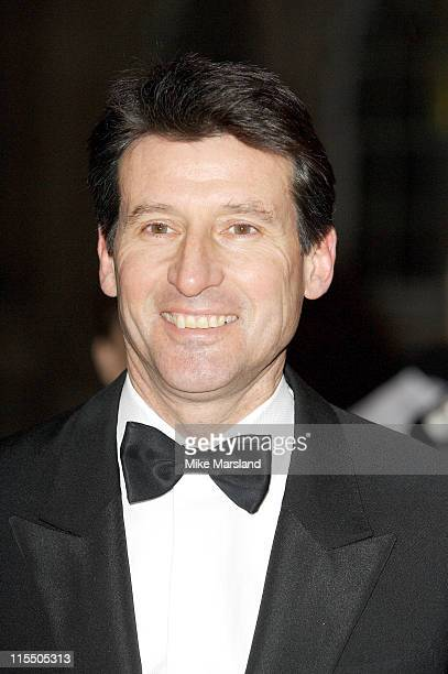 Lord Coe during Morgan Stanley Great Britons 2005 at Guildhall in London Great Britain
