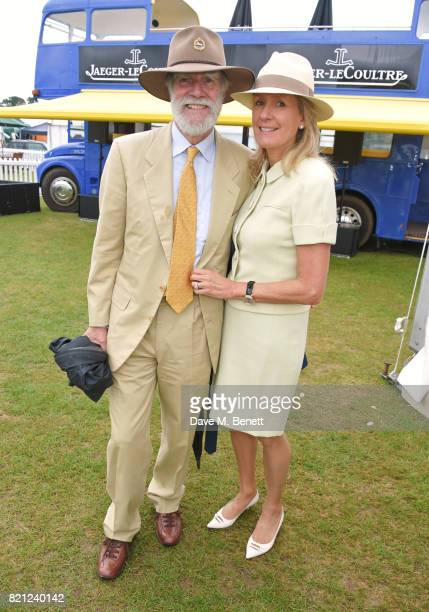 Lord Cowdray and Lady Cowdray attend the JaegerLeCoultre Gold Cup Polo Final at Cowdray Park on July 23 2017 in Midhurst England