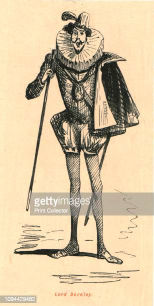 Lord Darnley' 1897 Darnley in ruff cape doublet and hose Henry Stuart Lord Darnley was the second husband of Mary Queen of Scots From 'The Comic...