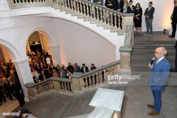 Lord Davies of Abersoch attends the new Royal Academy of Arts opening party at Royal Academy of Arts on May 15 2018 in London England
