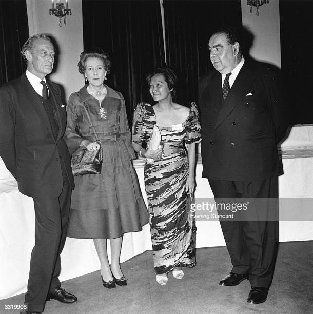 Lord Drogheda Mrs Ian Fleming Dr Paterno and Lord Goodman