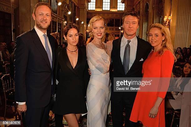 Lord Edward SpencerChurchill Kimberley Hammerstroem Eva Herzigova Gregorio Marsiaj and Lady Alexandra SpencerChurchill attend as Christian Dior...