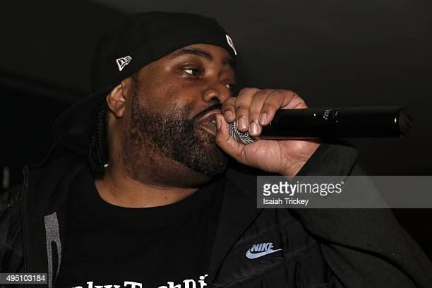 Lord Finesse attends The Beatnuts Performence At The Den At Nest on October 30 2015 in Toronto Canada