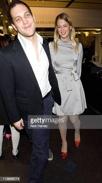 Lord Freddie Windsor and Lady Gabriella Windsor during Mulberry For Giles Bags Launch Party Inside Arrivals at Harvey Nichols in London Great Britain