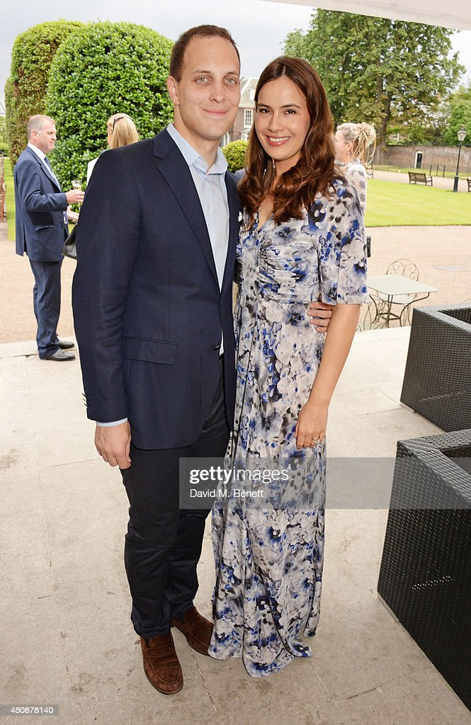 Lord Frederick Windsor (L) and Lady Sophie Windsor attend the drinks reception hosted by Dockers, the San Francisco based apparel brand, at Kensington Palace on the eve of 'Dockers Flannels For Heroes' cricket match on June 19, 2014 in London, England.