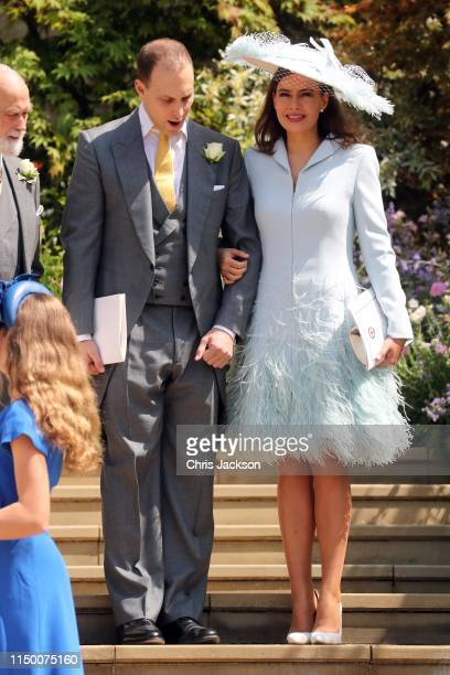 Lord Frederick Windsor and Sophie Winkleman after the wedding of Lady Gabriella Windsor and Mr Thomas Kingston at St George's Chapel on May 18 2019...