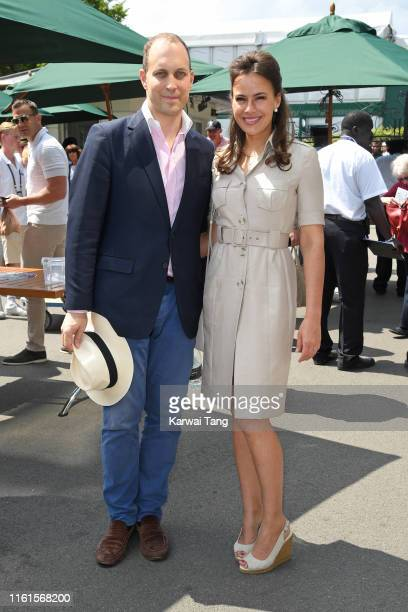 Lord Frederick Windsor and Sophie Winkleman attend day eleven of the Wimbledon Tennis Championships at All England Lawn Tennis and Croquet Club on...