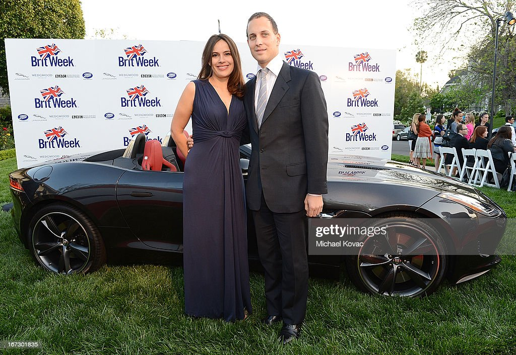 Lord Frederick Windsor (R) and Sophie Winkleman attend the BritWeek Los Angeles Red Carpet Launch Party with Official Vehicle Sponsor Jaguar on April 23, 2013 in Los Angeles, California.