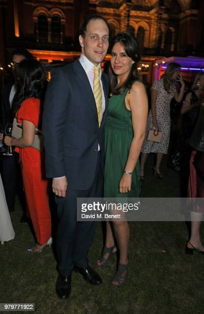 Lord Frederick Windsor and Sophie Winkleman attend the Summer Party at the VA in partnership with Harrods at the Victoria and Albert Museum on June...