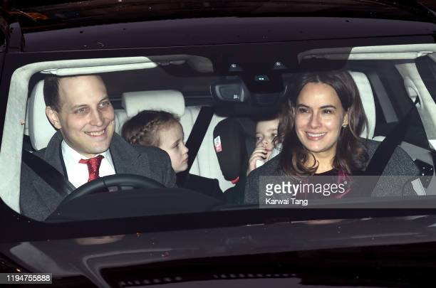 Lord Frederick Windsor Maud Elizabeth Daphne Marina Windsor Isabella Alexandra May Windsor and Sophie Winkleman attend Christmas Lunch at Buckingham...