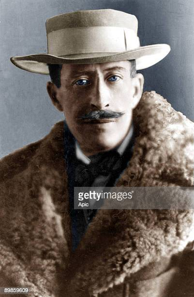Lord George Carnavon philanthropist and personal financer of archeologist Howard Carter colorized document
