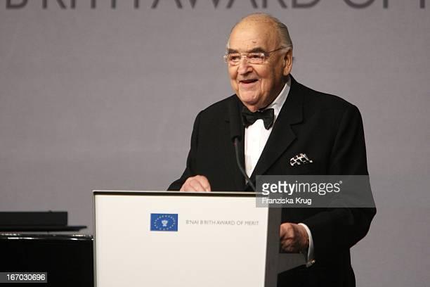 Lord George Weidenfeld Bei Der Verleihung Des B'Nai B'Rith Europe Award Of Merit Im Mariott Hotel In Berlin Am 110308