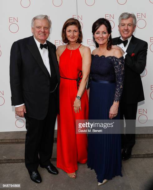 Lord Grade Francesca Leahy Jacqui Brunjes and Harry Brunjes attend the ENO Gala 2018 A Celebration of Women in Opera at Gibson Hall on April 19 2018...