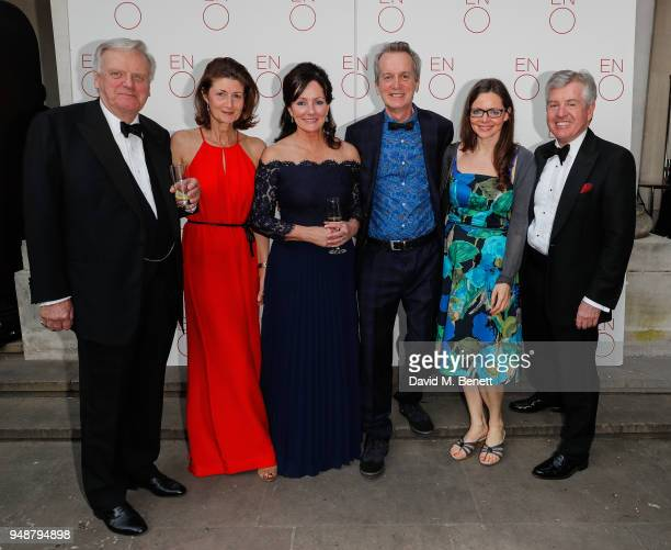 Lord Grade Francesca Leahy Jacqui Brunjes Frank Skinner Cath Mason and Harry Brunjes attend the ENO Gala 2018 A Celebration of Women in Opera at...