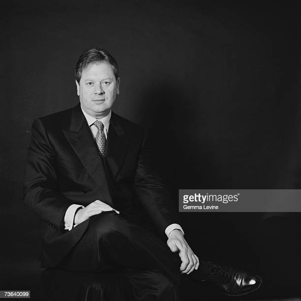 Lord Graham Kirkham, founder and executive chairman of British furniture group DFS, circa 1994.