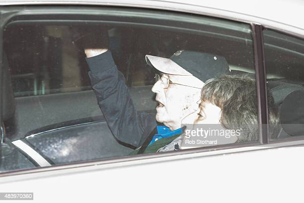 Lord Greville Janner arrives at Westminster Magistrates Court with his daughter on August 14, 2015 in London, England. The 87-year-old ex-MP, who was...