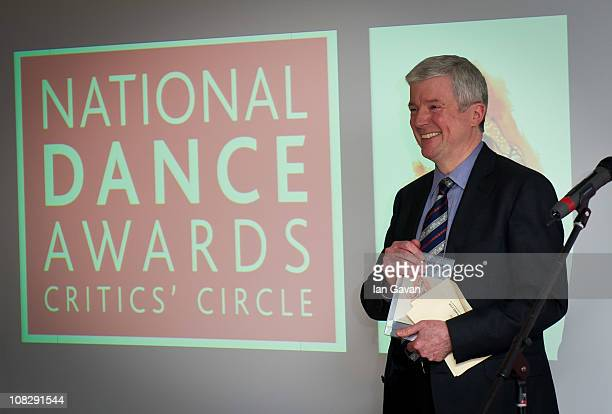 Lord Hall of Birkenhead presents the 'De Valois Award For Outstanding Achievement' to Alistair Spalding during the 11th Annual National Dance Awards...