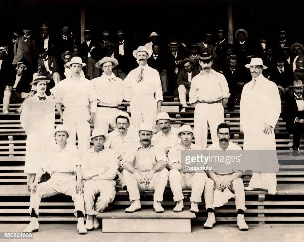 Lord Hawke's allamateur cricket team one of two teams to tour the West Indies both of which were beaten twice by Trinidad in 1897 Left to right back...
