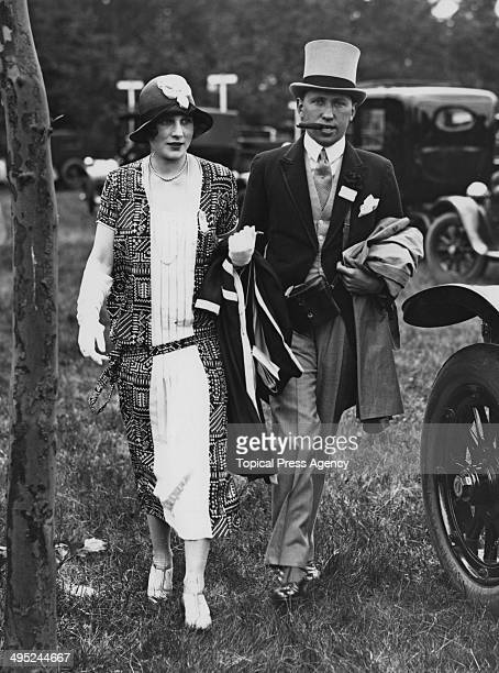 Lord Henry the 6th Earl of Carnarvon with his wife Lady Anne Carnarvon attending the 4th day of Ascot races June 1924